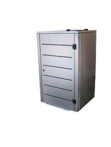 Müllbox-System, Modell Pacco E Line für drei 240 Liter Tonnen in Anthrazitgrau