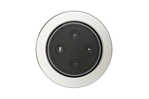 EKKØ Einbaugehäuse für Amazon Echo 2 - Einbau in Möbel und Wände - Silber, Schwarz, Titan eloxiert - Seedstock (Silber)