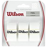 Wilson Pro Overgrip, Overgrips raqueta, Blanco, talla NS, pack de 3