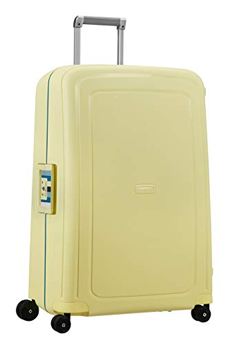 Samsonite S'Cure - Spinner L Koffer, 75 cm, 102 L, gelb (pastel yellow stripes)