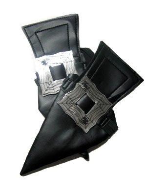 Espa Schuhüberzieher Hexenschuhe für Erwachsene Kostümaccessoire schwarz-Silber Einheitsgröße