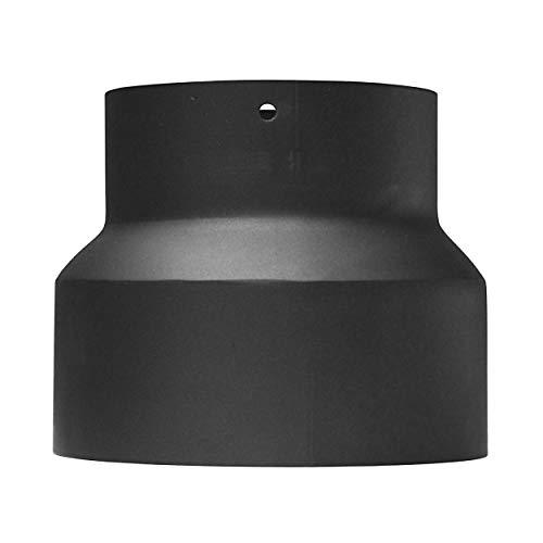 raik SH013-001-sw Rauchrohr / Ofenrohr Reduzierung 150mm - 120mm schwarz