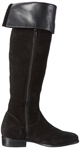 VERO MODA Damen Vmmille Leather Overknee Boot Schneestiefel Schwarz (Black)
