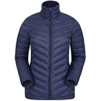 Mountain Warehouse Featherweight Down Womens Jacket - Durable Casual Coat, Water Resistant Rain Coat, Easy to Pack Ladies Coat - for Winter Camping