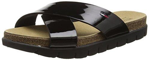 Hilfiger Denim Damen S1385LIDE Sandal 2P Flip-Flop, Schwarz (Black 990), 39 EU