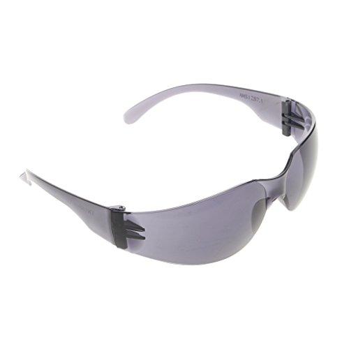 ZOOMY Schutzbrille Augenschutz Brillen Eyewear Dentallabor Werkstücklinse - Schwarz + Grau