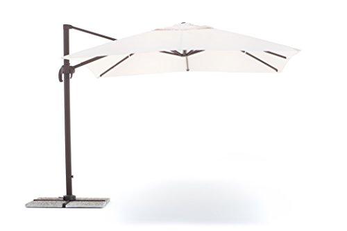 My garden ombrellone senso 3x3, ecrù