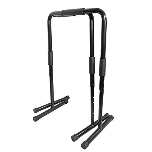 Maybesky Fitness-Dip-Station für Dip-Ständer, robust, Ultimate Body Press Bar mit Sicherheitsanschluss für Trizeps-Dips, Gymnastik, Calisthenic, Körpergewicht für Herren, stahl, Schwarz , 58*91*43.5cm (Dip-station Stand)