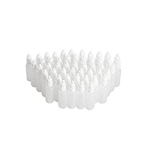 50 10 ml leer LDPE Kunststoff Flexibler Eye Liquid Dropper Flaschen nachfüllbar Behälter mit kindersichere Gap