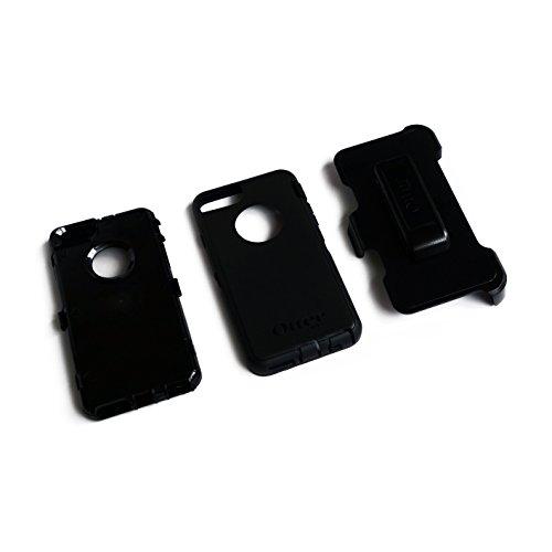 CUSTOM Black OtterBox Defender Series Case for Apple iPhone 6 PLUS (5.5 Model) - Bright Blue White Spikes