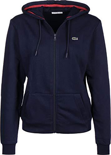 Lacoste Sport Damen Sweatshirt Sf1550, Blau (Marine/Goji Ea1), 40 (Herstellergröße: 42)