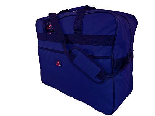 Sac Bagage A Main - Sac de voyage pour voler avec Ryanair et Easyjet - Sac pour Cabine Pliable en 3 Coloris, avec Bandoulière - 50cm x 40cm x 20cm Poids léger 0.6kg 40 Litre –Jazzi Roamlite RL56N Bleu