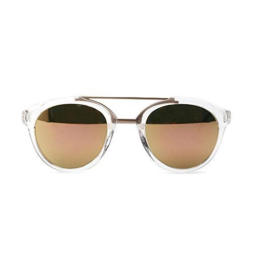 Drreny Zweireihige Retro-Sonnenbrille Männliche Europäische Und Amerikanische Sonnenbrille Mit Großem Gestell Weibliche Acryllinse Transparenter Film