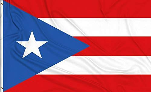 Aimto 3x 5ft Puerto Rico Flagge-Hellen Farben und Anti-Fading Materialien-Puerto Rica National Flaggen Polyester Leinwand und Messing Knopfloch-Qualitätssicherung -