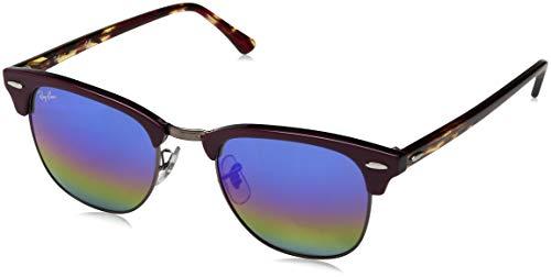 Ray-Ban Unisex-Erwachsene Sonnenbrille Rb 3016 Metallic Dark Bronze/Lightgreymirrorrainbow1 51