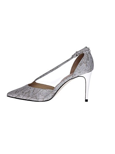 DECOLLETE GUESS DONNA BEKKI IN PELLE STAMPA PITONE COLORE SILVER FLBKK2LEP08 Silver