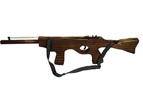 Gummiband Sturmgewehr Holz Maschinenpistole Pistole Revolver Cowboy Indianer Räuber Gendarme Duellpistole Karneval Fasching Party Spiel von MEIERLE & Söhne