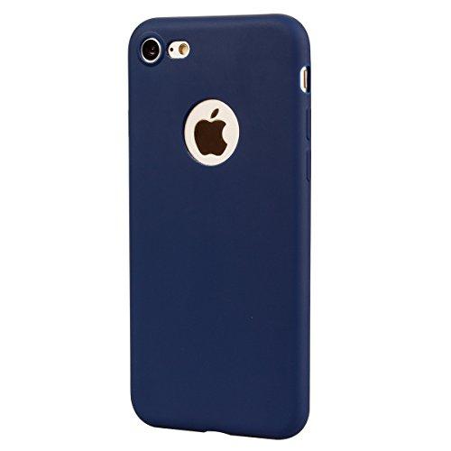 Coque iPhone 7 , Coque iPhone 8 Etui Souple Flexible Ultra Mince Silicone TPU Housse Mode Dessin Couleur des Bonbons Motif Pour Apple iPhone 7 / iPhone 8 (4.7 pouces) Enveloppe Coque E-Lush Case Cover Bleu Marin