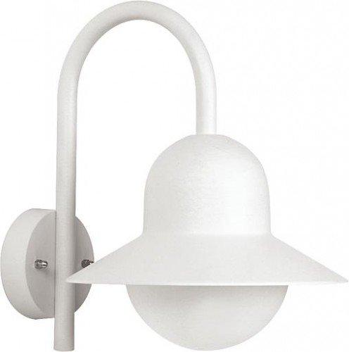 Albert 680662 Lanterne en aluminium E27 Blanc 34,5 cm