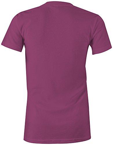 Manufactured 2005 - Rundhals-T-Shirt Frauen-Damen - hochwertig bedruckt mit lustigem Spruch - Die perfekte Geschenk-Idee (07) pink