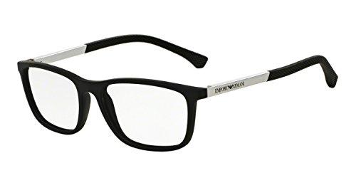 emporio-armani-fur-mann-3069-black-rubber-kunststoffgestell-brillen-55mm