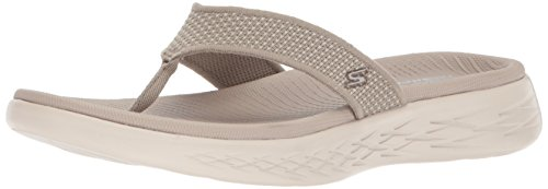 Skechers Damen on The Go 600 Sandalen, Beige (Taupe), 39 EU (Skechers On The Go)
