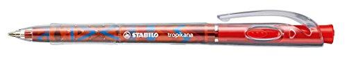 Druck-Kugelschreiber - STABILO tropikana FESTIVAL SPIRIT in rot - 10er Pack