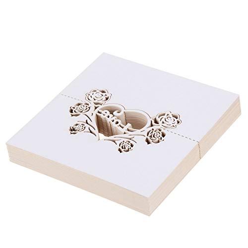 chzeits Gast Name Tisch Karten Party Tabelle Name Papier Zahlen Karte Schneid Design FüR Hochzeit Dekoration Geschenk (Silber Liebe) ()