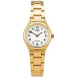 Casio LTP-1130N-7B - Reloj Analógico para Señoras, Banda de Acero Inoxidable, Dorado
