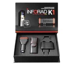 INFORAD Avertisseur de radars K1 Deluxe (K1 + accessoires) + Adaptateur allume-cigare / secteur SKP-PWR-ADC