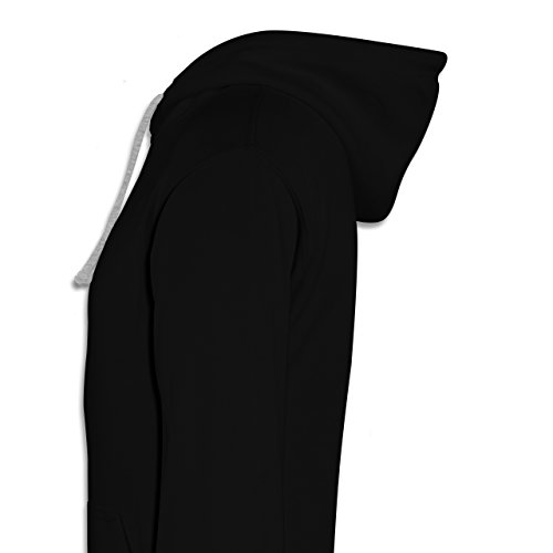Typisch Frauen - Star of the Night - Kontrast Hoodie Schwarz/Grau Meliert
