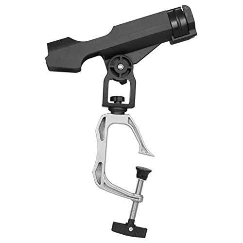 Lzdingli Angelzubehör Angelrutenhalter mit großer Klemmöffnung 360 Grad Verstellbarer Verschluss Angelrutenhalter mit großer Klemmöffnung Draußen (Color : Schwarz) (Kajak-rack-falten)