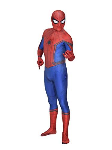 ASJUNQ Außerordentliches Spiderman Kostüm Erwachsene Kostüm Cosplay Body Halloween Zentai Kostüm Erwachsene Party Movie Requisiten,Red-L