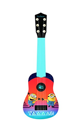 Minions Primera Guitarra, 6 Cuerdas, Instrumento Juguete (Lexibook K200DES)