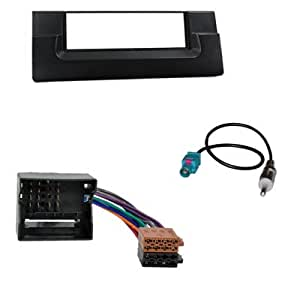 kit adaptateur autoradio 1 din pour bmw 5 e39 x5 e53 noir iso fm high tech. Black Bedroom Furniture Sets. Home Design Ideas