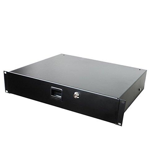 Penn Elcom Standard Stahl Rack Schublade mit SLAM Verriegelung & Kodiert Lock (Audio-Ausrüstung, Home Theater ES, DJ) 38,7cm Tief Gear Aufbewahrung 2U (3.5
