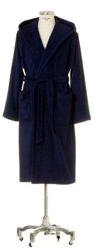 Möve Serie Superwuschel - Accappatoio con cappuccio, taglia L, colore: Grigio Blu