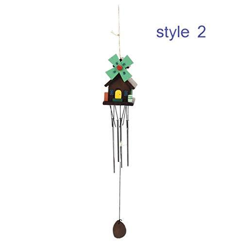 Windspiele Antike Erstaunliche Kabine Design Windspiel Kirchenglocke Windspiel Wandbehang Dekoration Kleine Handwerk Anhänger Gartendeko Windspiele säcke (Color : Style 2)