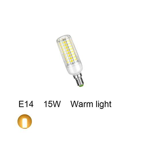 E14 15W, warme gewundene Glühlampe des Weiß-LED, warmes Weiß/kaltes Weiß nicht-Dimmable Licht-energiesparende Birne, passend für Toilette, Wohnzimmer, Schlafzimmer, Büro (Lampe Nickel Helle Tisch)
