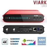 VIARK DROI Receptor TV satélite 4K DVB/S2 y T2 H265, Android 7.0