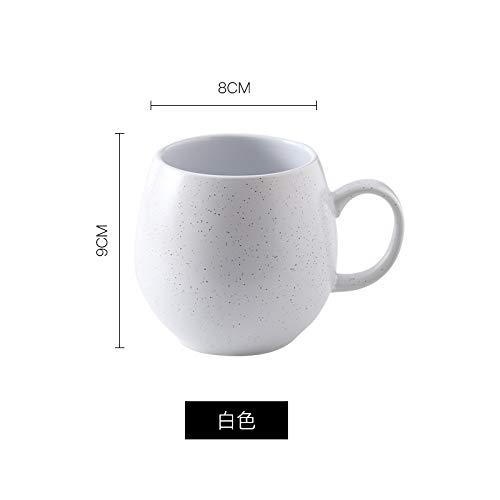Kreative Becherschalenpersönlichkeit keramisch mit Löffelbürokaffeetasse