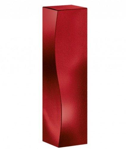 Weinverpackung Weinpräsentkarton Faltschachtel Skulptur rubinrot Weinkarton für 1 Flasche Maße : 78 x 78 x 360 mm VE 50 Stück