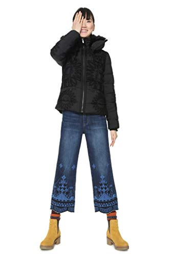 Desigual KOMODERI 5000 - Abrigo Acolchado para Mujer, Color Azul Marino Azul Marino 40