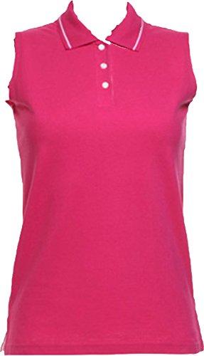 Gamegear-Lady-Proactive-Sleeveless-Shaped-Side-Seams-Slanted-Placket-Polo-Shirts