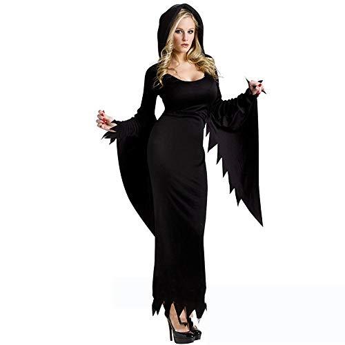 Für Kostüm Spider Erwachsene Queen - Shisky Cosplay kostüm Damen, Queen-Hexe-Kostüm Gothic Banshee Spider schwarz Vampir-Maxi-Kleid