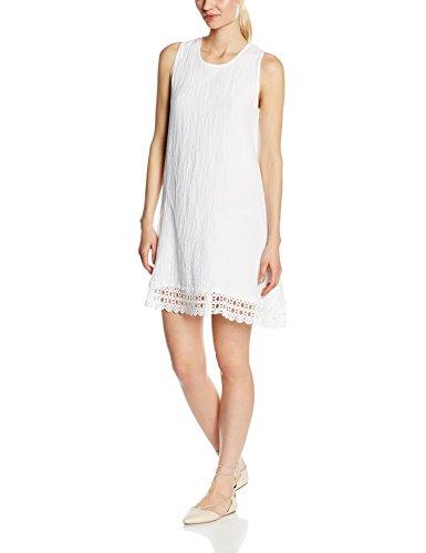 Solo Capri Abito In Garza Con Lavorazione Sul Fondo Bianco, Robe Femme Blanc