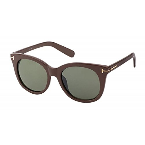 Sonnenbrille Cat Eye 400 UV getönt T-förmige Metallverzierung grün