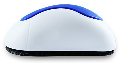 NEKAVA Tafelwischer mit 3 Ersatzfilze reinigt Whiteboards, Magnettafeln, Flipcharts, Kreidetafeln und Memoboards - stärkere Magnete, abziehbare & selbstklebende Filze sorgen für eine langfristige Nutzungsdauer (Tafelreiniger Farbe blau/weiß) -