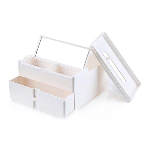 CN Multifunktions-Tissue-Box Wohnzimmer Couchtisch Aufbewahrungsbox (Schublade Ziehen Aus Produkte Edelstahl)