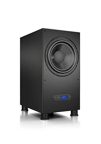 Nubert nuLine AW-600 Subwoofer | Lautsprecher für Bass und Effekte | Surround und Action auf hohem Niveau | Aktivsubwoofer-Technik | LFE-Box mit 240 Watt | Kompaktsubwoofer Schwarz